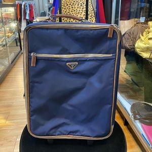Prada suitcase saffiano carry on